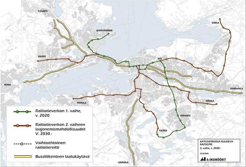 Tampere Raitiotie Kartta
